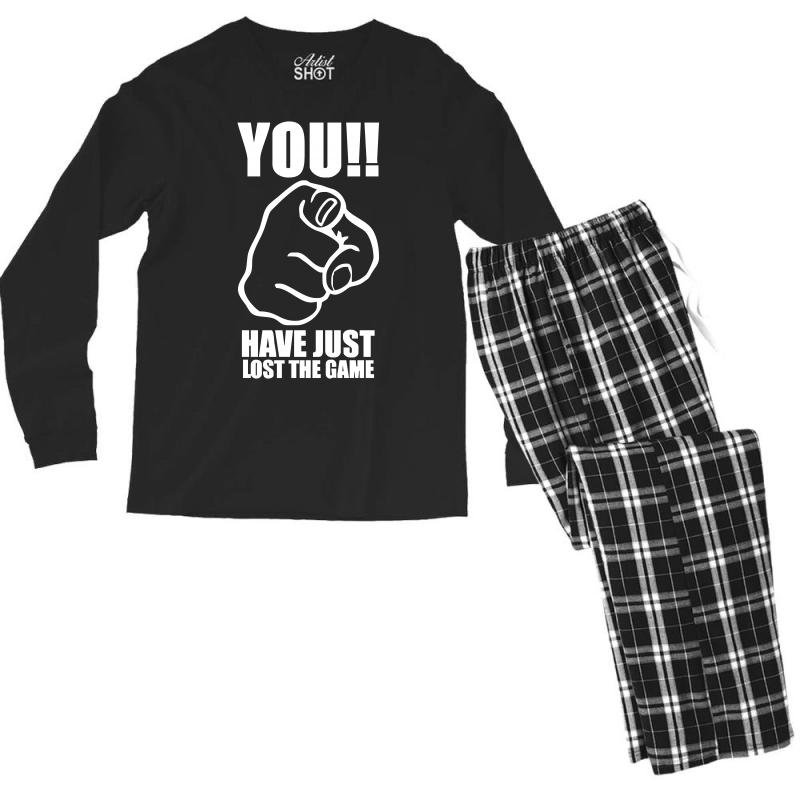8ecb11b9 Custom You Have Just Lost The Game Funny Computer Internet Humour Men's Long  Sleeve Pajama Set By Holil - Artistshot