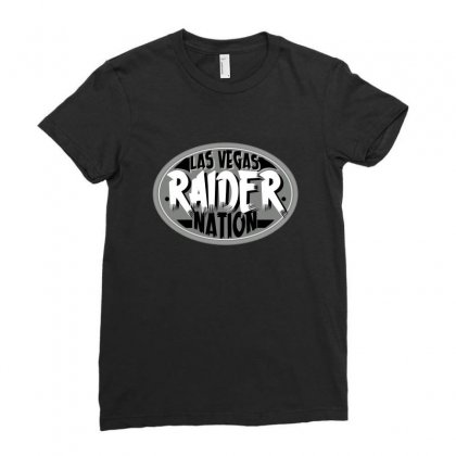 Las Vegas Raider Nation Ladies Fitted T-shirt Designed By Tiococacola
