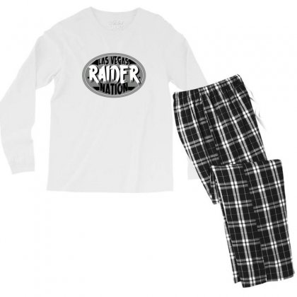 Las Vegas Raider Nation Men's Long Sleeve Pajama Set Designed By Tiococacola