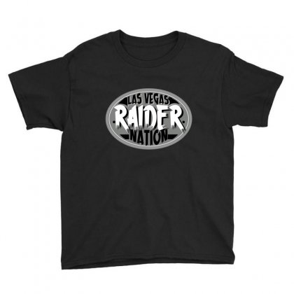 Las Vegas Raider Nation Youth Tee Designed By Tiococacola