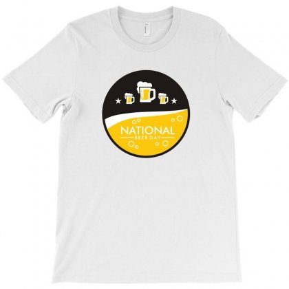 National Beer Day Logo Funny Tshirt T-shirt Designed By Alex