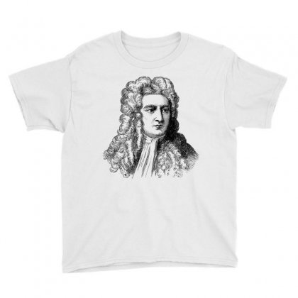 Isaac Newton Portrait Vintage Youth Tee Designed By Salmanaz