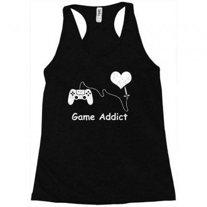 Game Addict T Shirt Racerback Tank Designed By Hung