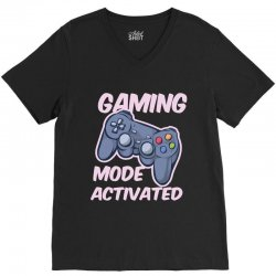 gaming mode activated V-Neck Tee | Artistshot