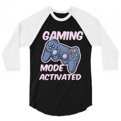 gaming mode activated 3/4 Sleeve Shirt | Artistshot