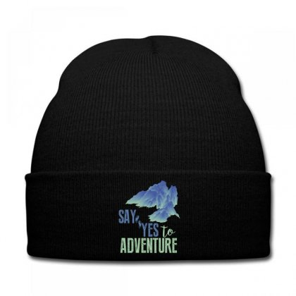 Say Yes To Adventure Knit Cap Designed By Wizarts