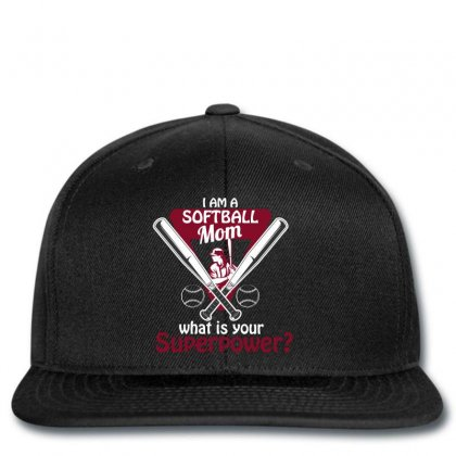 I Am A Softball Mom What Is Your Superpower Snapback Designed By Wizarts