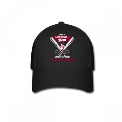 I Am A Softball Mom What Is Your Superpower Baseball Cap Designed By Wizarts