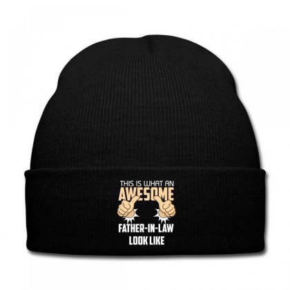 This Is What An Awesome Father In Law Look Like Knit Cap Designed By Wizarts