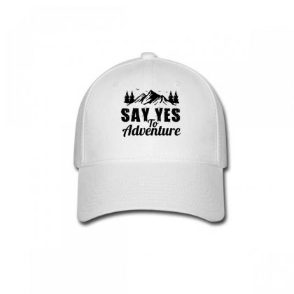 Say Yes To Adventure Baseball Cap Designed By Wizarts