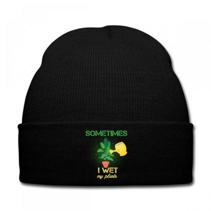 Sometimes I Wet My Plants Knit Cap Designed By Wizarts
