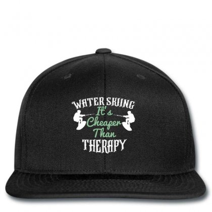 Water Skiing It's Cheafer Than Therapy Snapback Designed By Wizarts