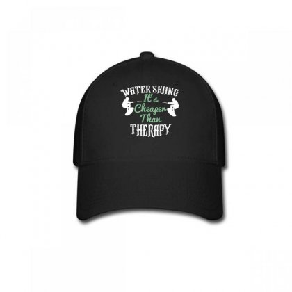 Water Skiing It's Cheafer Than Therapy Baseball Cap Designed By Wizarts