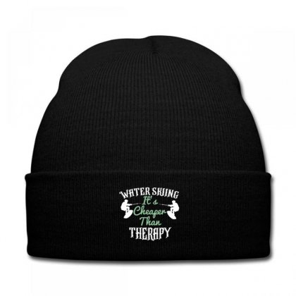Water Skiing It's Cheafer Than Therapy Knit Cap Designed By Wizarts