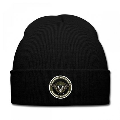 Four Wheels Move The Body Two Wheels Move The Soul Knit Cap Designed By Wizarts