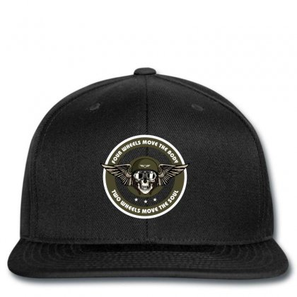 Four Wheels Move The Body Two Wheels Move The Soul Snapback Designed By Wizarts