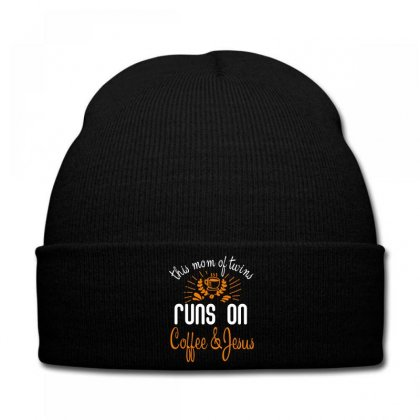 This Mom Of Twins Runs On Coffee Jesus Knit Cap Designed By Wizarts