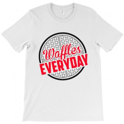 Waffles Everyday T-shirt Designed By Milanacr