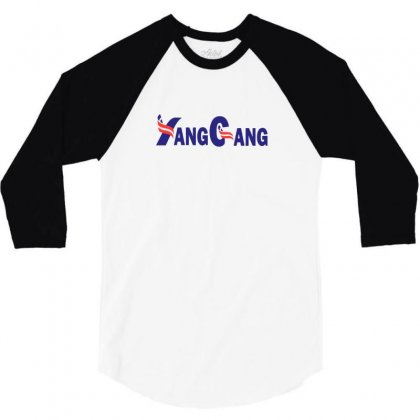 Yang For President 3/4 Sleeve Shirt Designed By Willo
