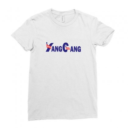 Yang For President Ladies Fitted T-shirt Designed By Willo