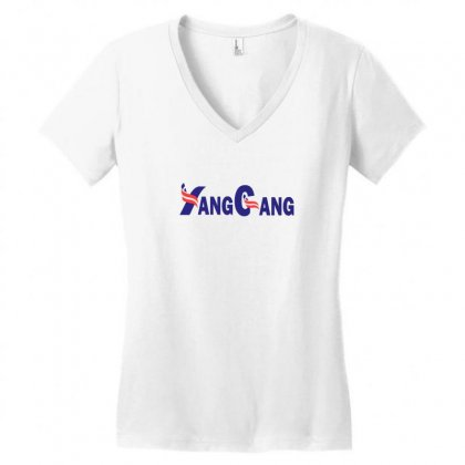 Yang For President Women's V-neck T-shirt Designed By Willo