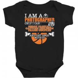 funny photographer gifts t shirt camera lover photography Baby Bodysuit | Artistshot