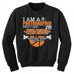 funny photographer gifts t shirt camera lover photography Youth Sweatshirt | Artistshot