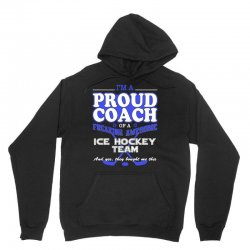 proud ice hockey coach shirt   gift for ice hockey coach Unisex Hoodie | Artistshot