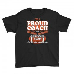 proud football coach shirt   gift for football coach Youth Tee | Artistshot