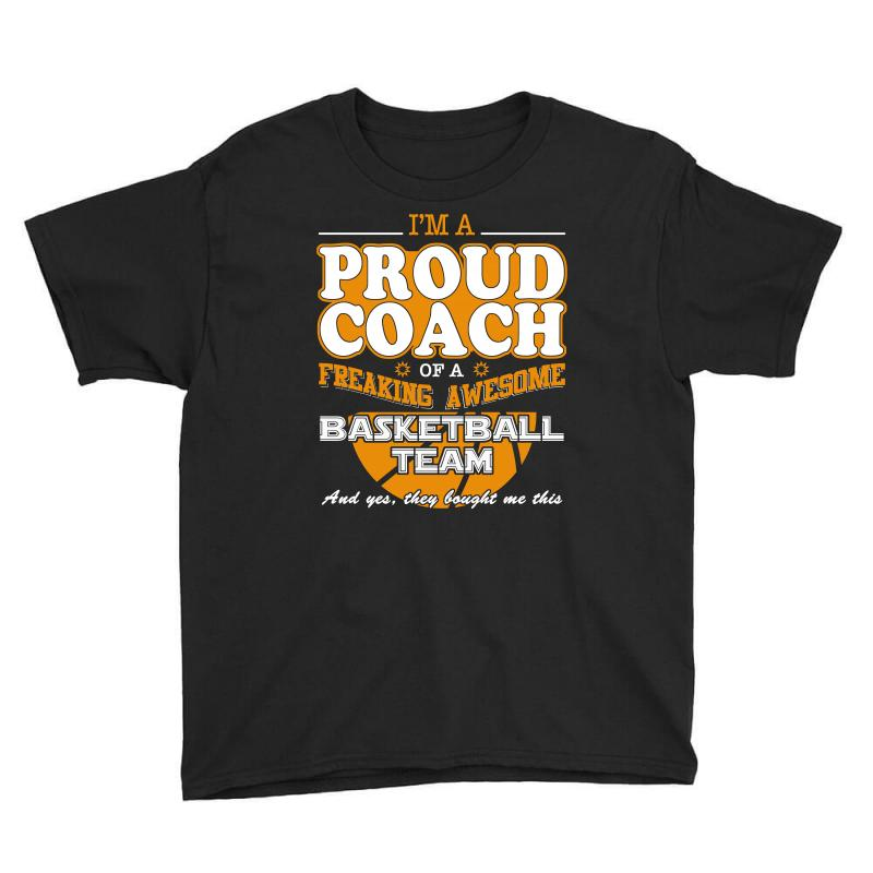 Proud Basketball Coach Shirt   Gift For Basketball Coach Youth Tee | Artistshot