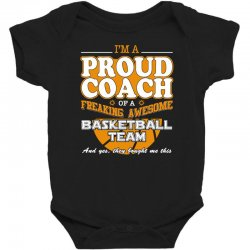 proud basketball coach shirt   gift for basketball coach Baby Bodysuit | Artistshot