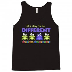 it s okay to be different autism awareness t shirt Tank Top | Artistshot