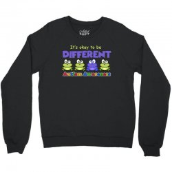 it s okay to be different autism awareness t shirt Crewneck Sweatshirt | Artistshot