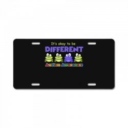 it s okay to be different autism awareness t shirt License Plate | Artistshot