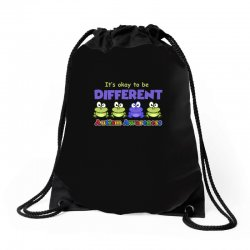 it s okay to be different autism awareness t shirt Drawstring Bags | Artistshot