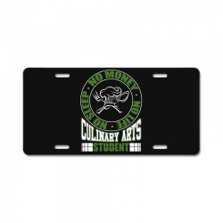 culinary arts student   no sleep, money, life t shirt License Plate | Artistshot