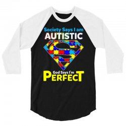 autism awareness t shirt 3/4 Sleeve Shirt | Artistshot