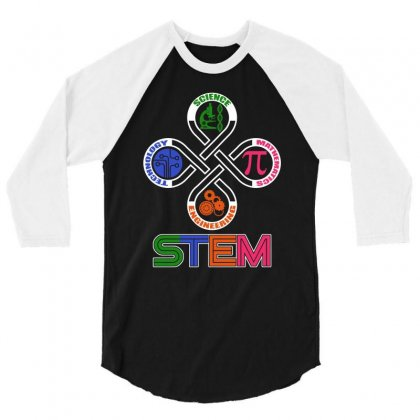 Stem Tshirt   Science, Technology, Engineering, Mathematics 3/4 Sleeve Shirt Designed By Hung