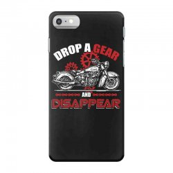 drop a gear and disappear   motorcycle t shirt iPhone 7 Case   Artistshot