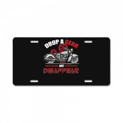 drop a gear and disappear   motorcycle t shirt License Plate   Artistshot