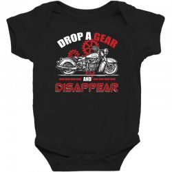 drop a gear and disappear   motorcycle t shirt Baby Bodysuit | Artistshot