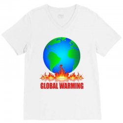 global warming V-Neck Tee | Artistshot