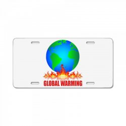 global warming License Plate | Artistshot