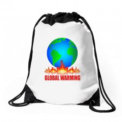 global warming Drawstring Bags | Artistshot