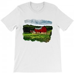 red barn watercolor T-Shirt | Artistshot