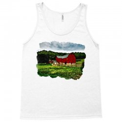 red barn watercolor Tank Top | Artistshot