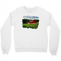 red barn watercolor Crewneck Sweatshirt | Artistshot