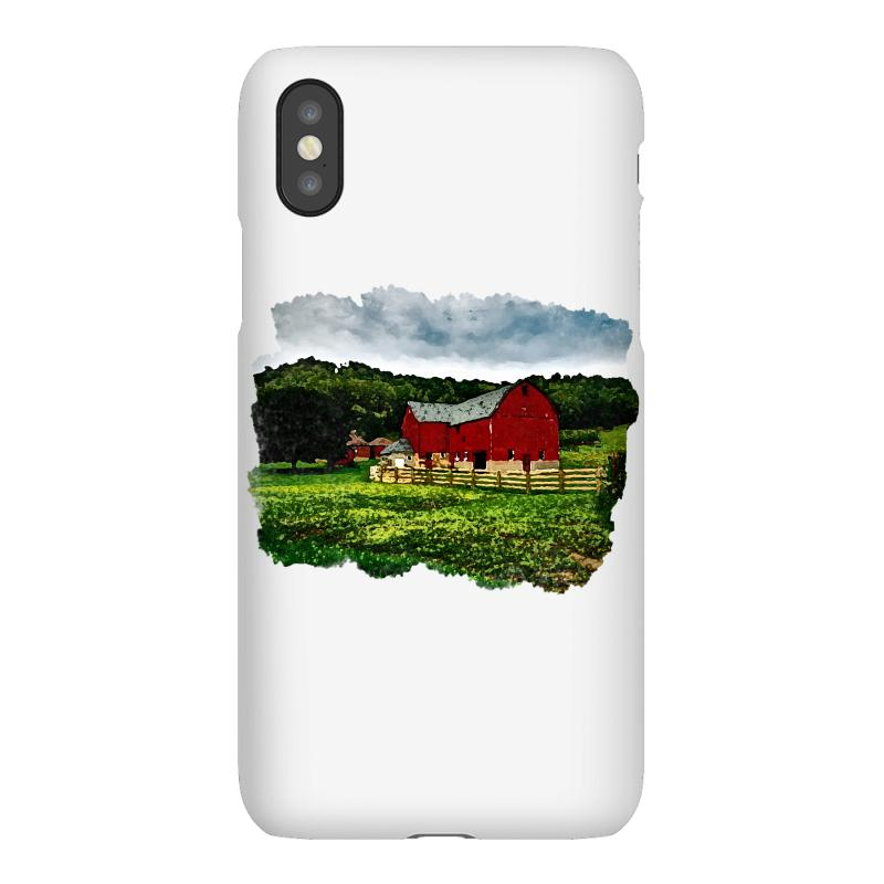 Red Barn Watercolor Iphonex Case | Artistshot