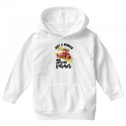 just a woman who loves her farmer for light Youth Hoodie | Artistshot
