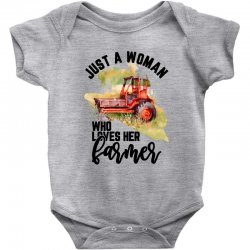 just a woman who loves her farmer for light Baby Bodysuit | Artistshot